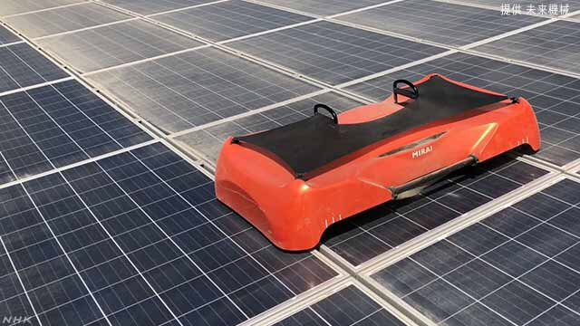 Japan venture:solar panel cleaning robot – prevention of